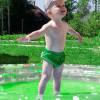Подгузники для бассейна с высокой талией зелёный горох