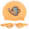 Детские очки шапочка силиконовая для плавания