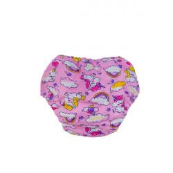 Подгузники для бассейна розовые единороги