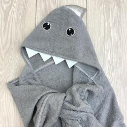 Пончо серая акула