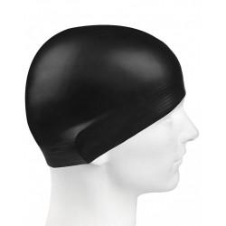 Шапка для плавания черная латекс взрослая