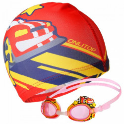 Очки и шапка для плавания  набор чемпион
