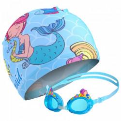 Детские очки  шапочка для бассейна русалочка