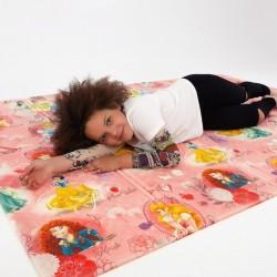 Детский термоковрик для ползания рулонный принцессы