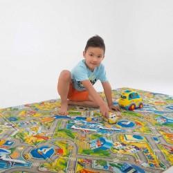 Детский термоковрик для ползания складной город