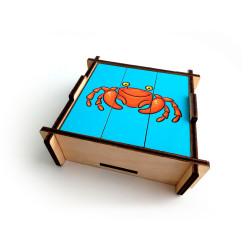 Развивающие игрушки разрезные картинки морской мир