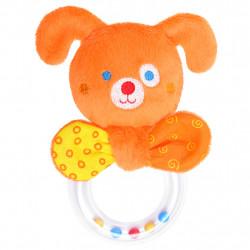 Погремушка щенок  c кольцом