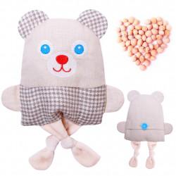 Игрушки  с вишневыми косточками мишка