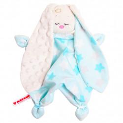 Игрушка комфортер сплюшка звезды на голубом