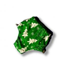 Подгузники для бассейна  высокой талией елочка на зеленом