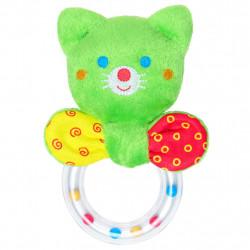 Погремушка котенок  c кольцом