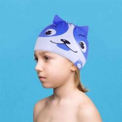 Шапка для плавания силиконовая детская собачка