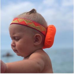 Защита для головы Ушки оранжевые