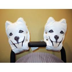 Муфты варежки для коляски собачки