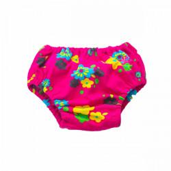 Подгузники для бассейна цветы на красном