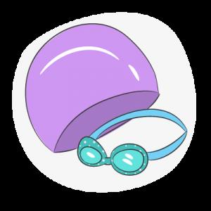 Очки шапки для бассейна