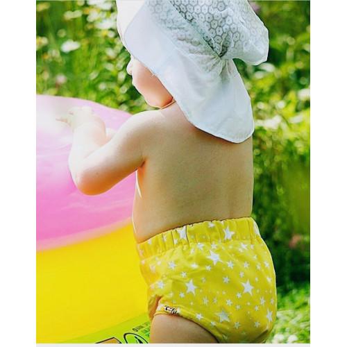 Подгузники для бассейна высокой талией звезды на желтом