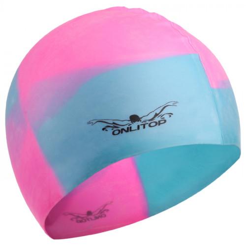 шапочки для бассейна силикон розово голубая