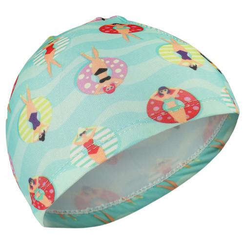 шапка для бассейна тканевая пляж