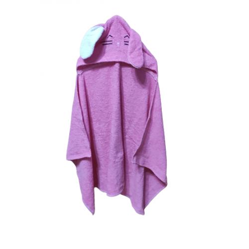 Полотенце с капюшоном уголок зайка