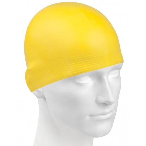 шапка  для бассейна желтая латекс