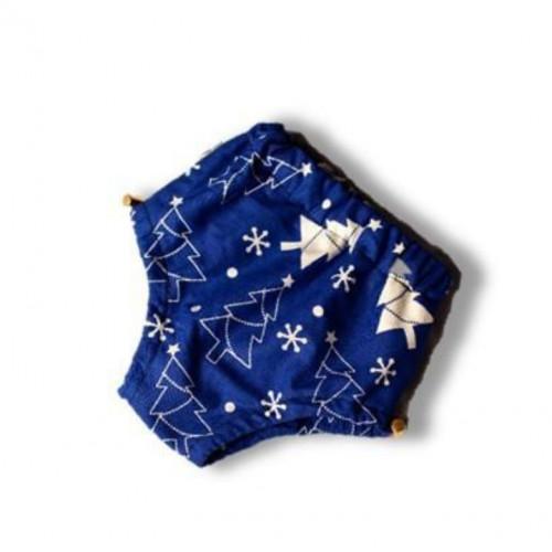 Подгузники для бассейна  высокой талией ёлочка на синем