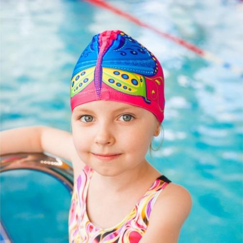Шапка тканевая для плавания арт детская