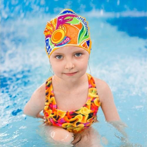 Шапка тканевая для плавания лео детская