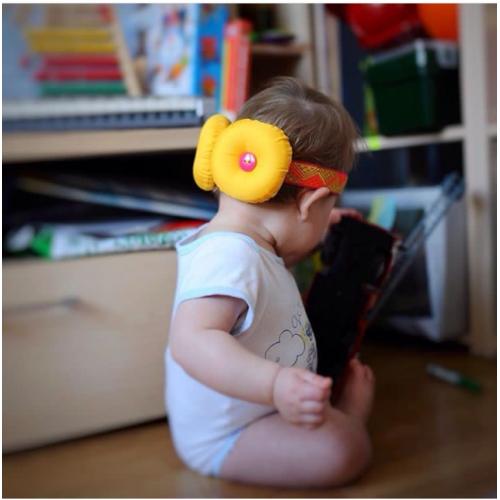 Защита для головы Ушки жёлтые